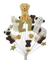 Dogs 21st birthday cake topper decoration - free postage